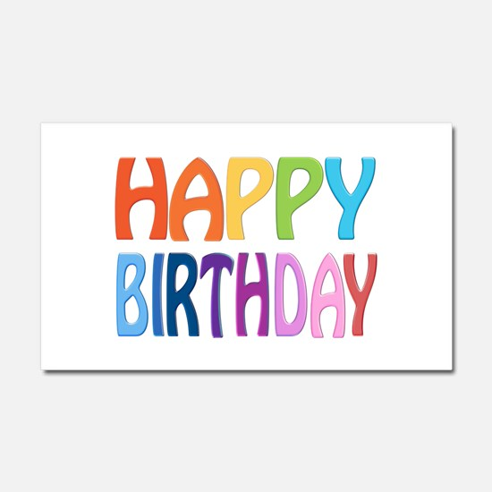 Happy Birthday - Happy Greeting Car Magnet 20 X 12