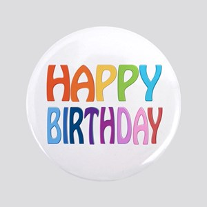 "happy birthday - happy 3.5"" Button"