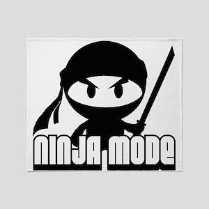 Ninja mode Throw Blanket