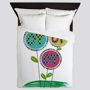 OT FLOWERS FINISHED 1 Queen Duvet