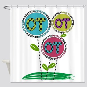 OT FLOWERS FINISHED 1 Shower Curtain