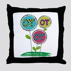 OT FLOWERS FINISHED 1 Throw Pillow