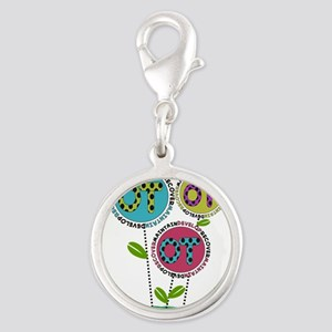 OT FLOWERS FINISHED 1 Silver Round Charm