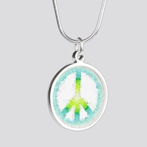 peace Silver Round Necklace