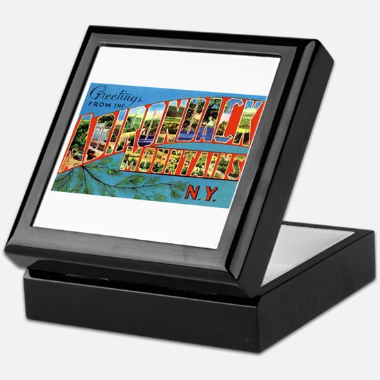 Adirondack Mountains New York Keepsake Box
