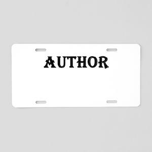 Author Aluminum License Plate