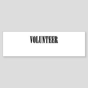 Volunteer Sticker (Bumper)