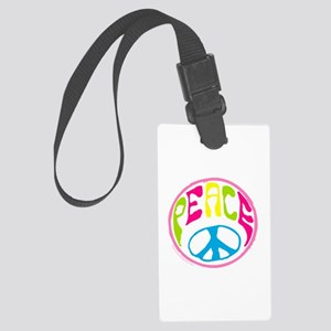 Hippie Peace Sign Large Luggage Tag