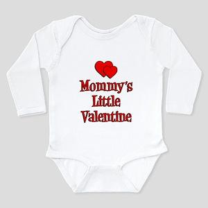 Mommys Little Valentine Long Sleeve Infant Bodysui
