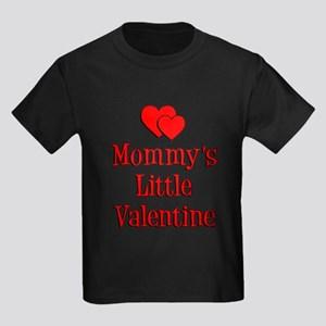 Mommys Little Valentine Kids Dark T-Shirt
