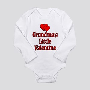 Grandmas Little Valentine Long Sleeve Infant Bodys