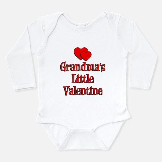 Grandmas Little Valentine Long Sleeve Infant Bodys