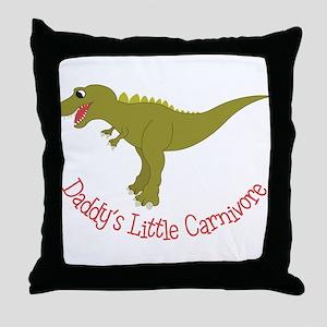 Little Carnivore Throw Pillow