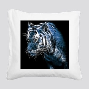 Night Tiger Square Canvas Pillow