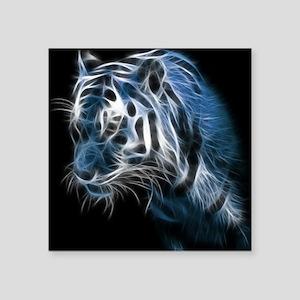 "Night Tiger Square Sticker 3"" x 3"""