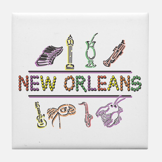 New Orleans Tile Coaster