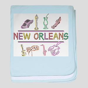New Orleans Mardi Gras baby blanket