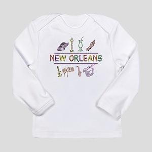 New Orleans Mardi Gras Long Sleeve Infant T-Shirt