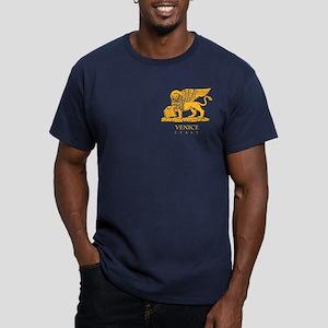 Venice Flag Men's Fitted T-Shirt (dark)