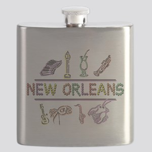 New Orleans Mardi Gras Flask