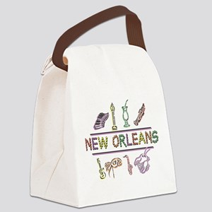 New Orleans Mardi Gras Canvas Lunch Bag