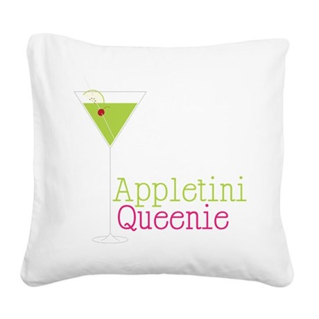 Appletini Queenie Square Canvas Pillow