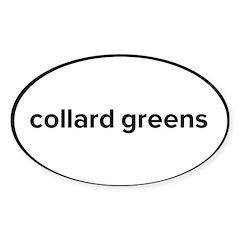 Collard Greens oval sticker