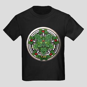 Rowan Celtic Greenman Pentacle Kids Dark T-Shirt