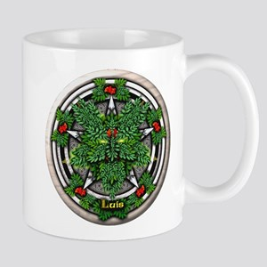 Rowan Celtic Greenman Pentacle Mug