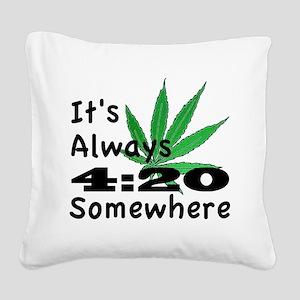 420 Square Canvas Pillow