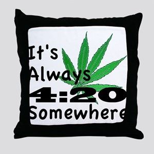 420 Throw Pillow