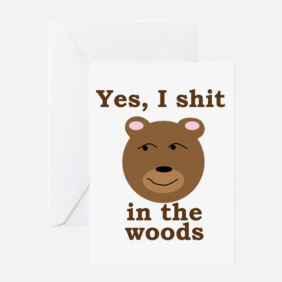 inthewoods10x10 Greeting Cards