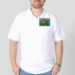Sea turtle! Wildlife art! Golf Shirt