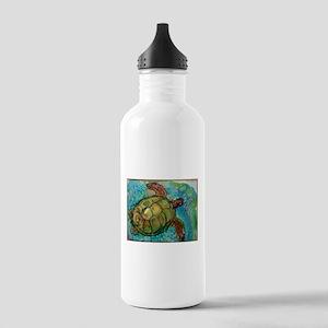 Sea turtle! Wildlife art! Stainless Water Bottle 1