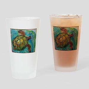 Sea turtle! Wildlife art! Drinking Glass