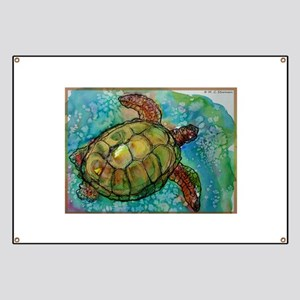 Sea turtle! Wildlife art! Banner