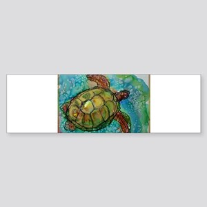 Sea turtle! Wildlife art! Sticker (Bumper)