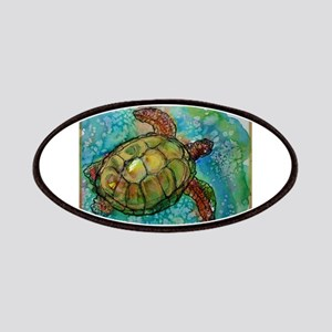 Sea turtle! Wildlife art! Patches