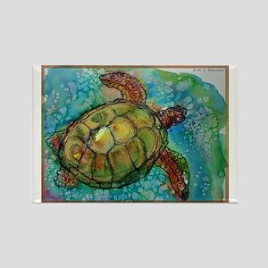 Sea turtle! Wildlife art! Rectangle Magnet