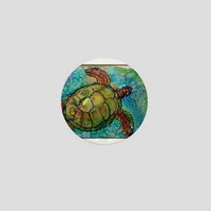 Sea turtle! Wildlife art! Mini Button