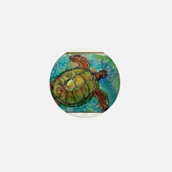 Sea turtle! Wildlife art! Mini Button