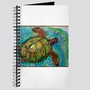 Sea turtle! Wildlife art! Journal