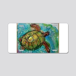 Sea turtle! Wildlife art! Aluminum License Plate
