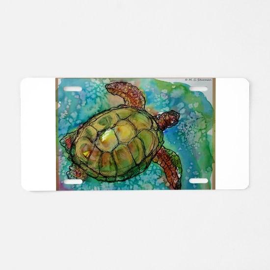 Sea turtle! Wildlife art! Aluminum License Plate