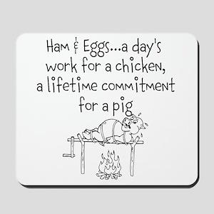 Ham eggs.. Mousepad