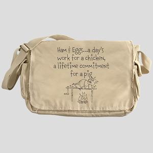 Ham eggs.. Messenger Bag