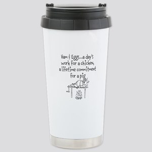 Ham eggs.. Stainless Steel Travel Mug