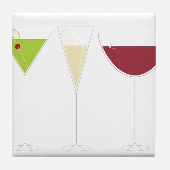 Drink Trio Tile Coaster