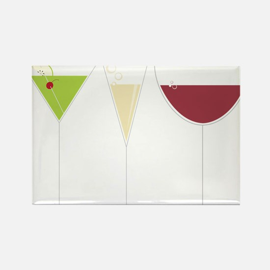 Drink Trio Rectangle Magnet