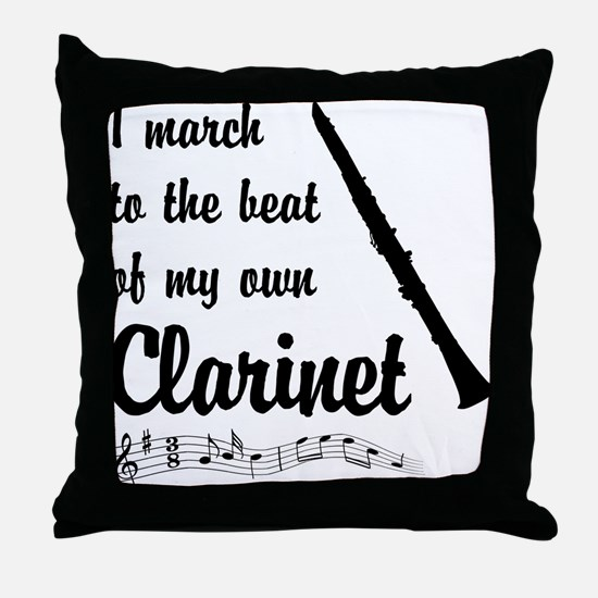 March to the Beat: Clarinet Throw Pillow